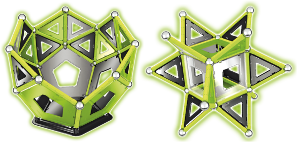 Geomag GLOW 104 - průhledné panely