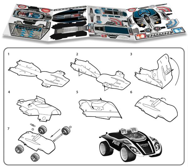 Skládání plastové karoserie Wheels